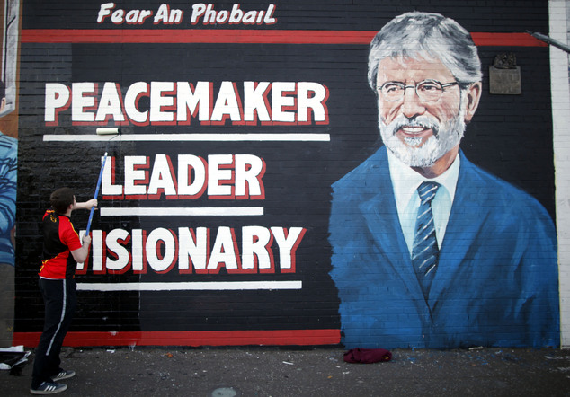 Britain Northern Ireland Gerry Adams Arrested
