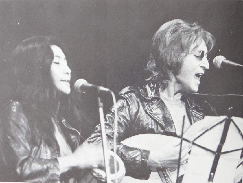 Yoko Ono e John_Lennon al John Sinclair Freedom Rally